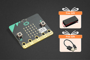 micro:bit with Black Friday Gifts (USB cable and Battery Holder)
