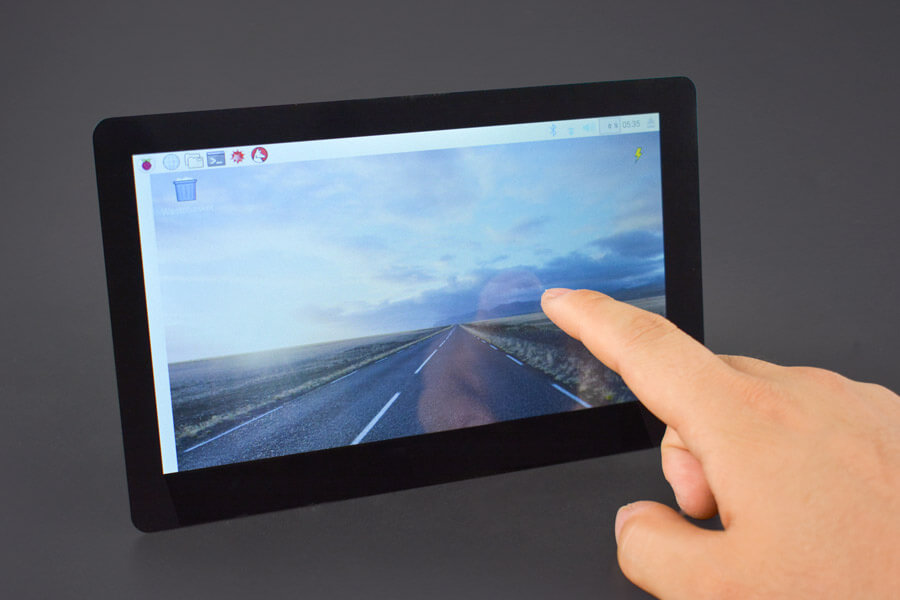 7'' HDMI Display with Capacitive Touchscreen(Compatible with Raspberry Pi)