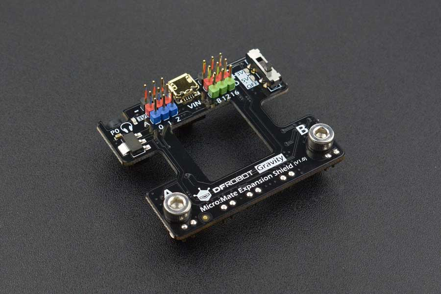micro:Mate - a Mini & Thin Expansion Board for micro:bit (Gravity Compatible)
