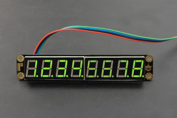 Gravity: 8-Digital LED Segment Display Module (Green)