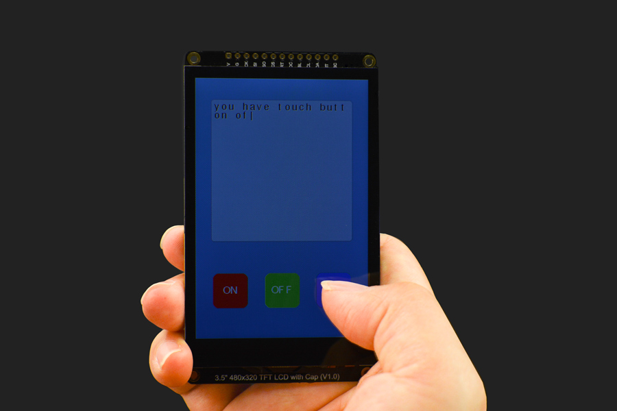 "Fermion: 3.5"" 480x320 TFT LCD Capacitive Touchscreen with MicroSD Card Slot (Breakout)"