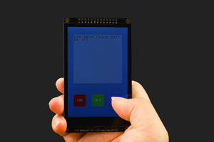 "3.5"" 480x320 TFT LCD Capacitive Touchscreen"