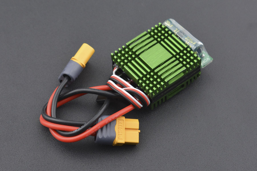 40A Bidirectional Brushed ESC Speed Controller without Brake (XT60 Connector) (Discontinued)