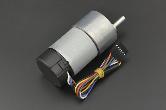 Metal DC Geared Motor w/Encoder - 12V 251RPM 18Kg.cm