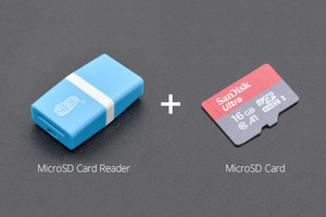 SD/MicroSD Memory Card with Card Reader (16GB Class10 SDHC with Adapter)