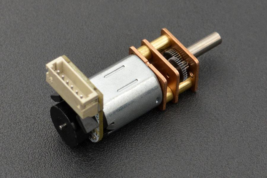 Micro Metal Geared motor w/Encoder - 6V 105RPM 150:1