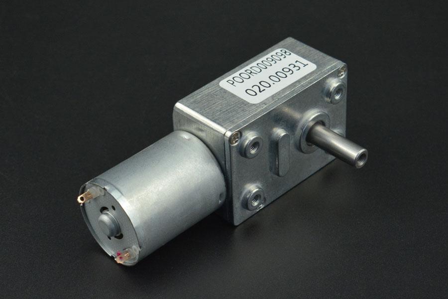 Turbo Metal Gear Worm Motor (6V 40RPM 10kg/cm)