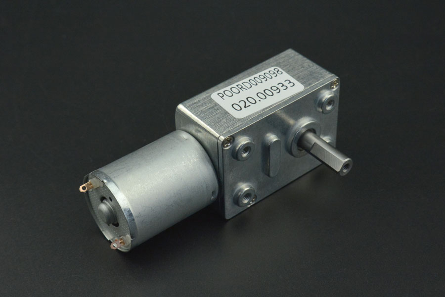 Turbo Metal Gear Worm Motor (12V 40RPM 8kg.cm)