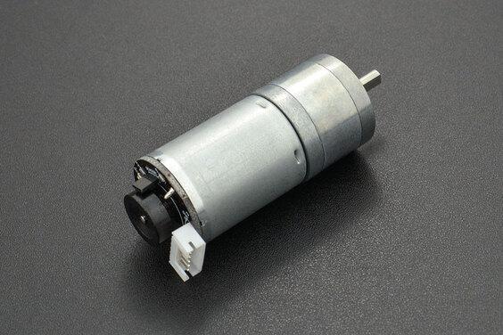 Metal DC Geared Motor w/Encoder - 6V 210RPM 10Kg.cm