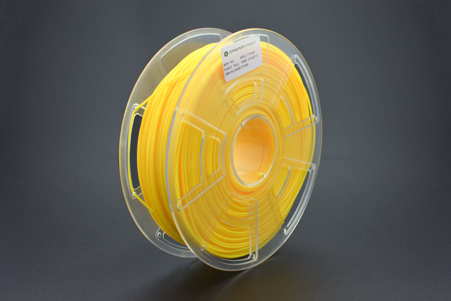 "1.75mm (0.07"") PLA (750g) – Yellow"