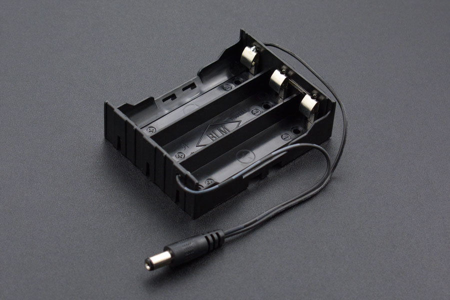 3 x 18650 Battery Holder with DC2.1 Power Jack