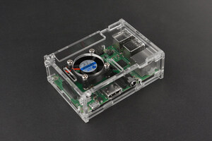 Transparent Acrylic Case for Raspberry Pi B+/2B/3B (with fan)