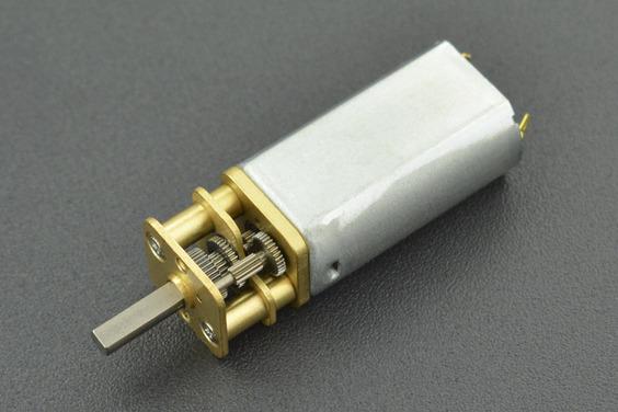 Mini Metal DC Geared Motor (6V 570RPM 1.5Kg*cm)