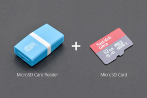 SD/MicroSD Memory Card with Card Reader (32GB Class10 SDHC with Adapter)