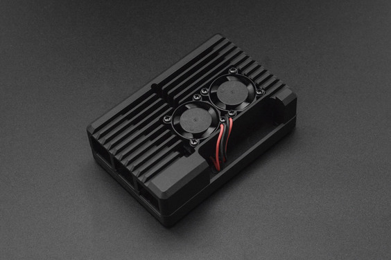Armor Case With Dual Fans(2510) for Raspberry Pi 4