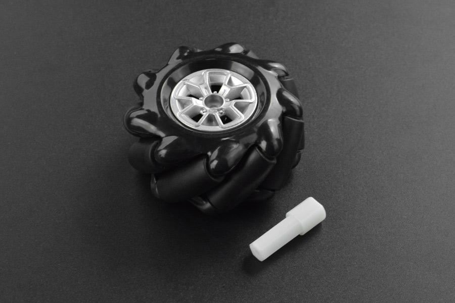 Black Mecanum Wheel with Motor Shaft Coupling (60mm) - Left
