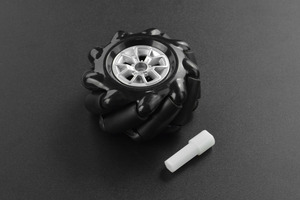 Black Mecanum Wheel with Motor Shaft Coupling (60mm) - Left