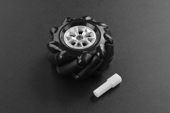 Black Mecanum Wheel with Motor Shaft Coupling (60mm) - Right