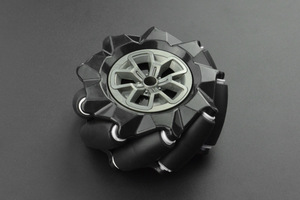 Black Mecanum Wheel (97mm) - Left