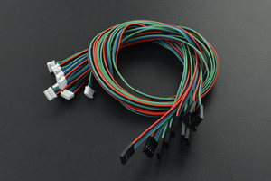 Gravity: 4Pin I2C/UART Sensor Cable for Arduino - 50cm (10 Pack)