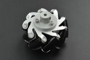 Metal Mecanum Wheel with Motor Shaft Coupling (65mm) - Left