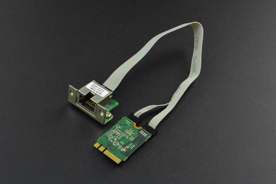 M.2 (A+E Key) to Gigabit Ethernet Module for LattePanda Alpha and Delta