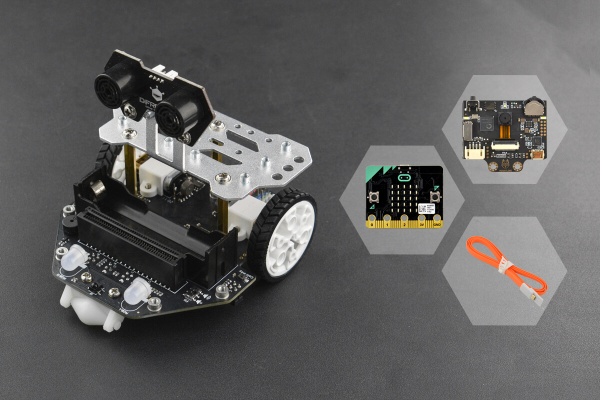 micro:Maqueen Plus with HUSKYLENS and micro:bit
