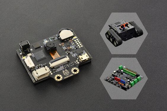 Gravity: HUSKYLENS with Devastator Tank Mobile Robot Platform and Romeo V2